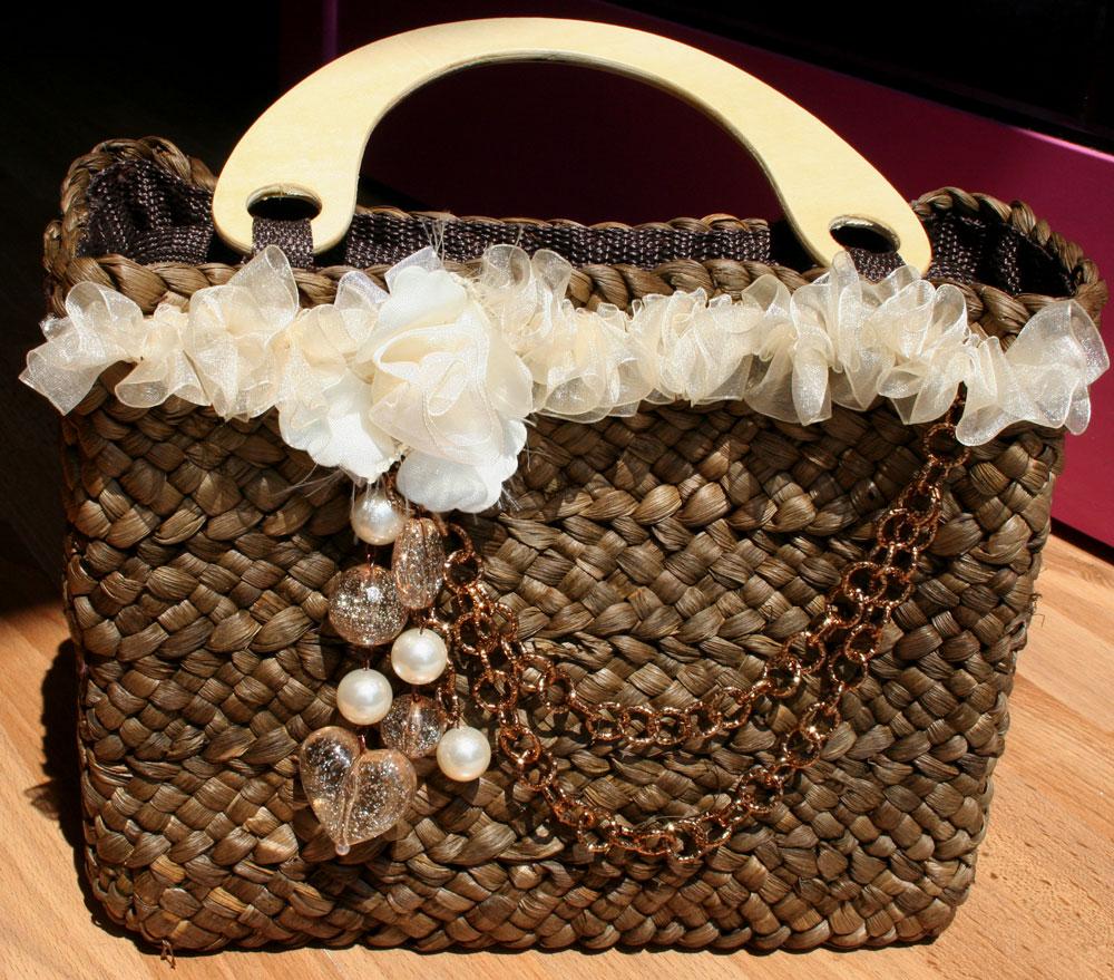 Borse Di Paglia Decorate Alluncinetto : Vendita borse paglia grezze modificare una pelliccia