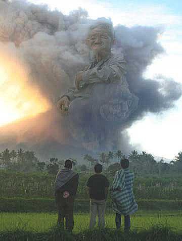 Sebuah fenomena aneh muncul sebelum meletusnya Gunung M