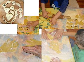 bambini fare biscotti di pastafrolla e cioccolato