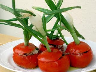 pomodori ripieni con polpo