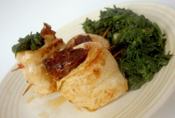 involtini di pollo con pomodorini al pepe verde
