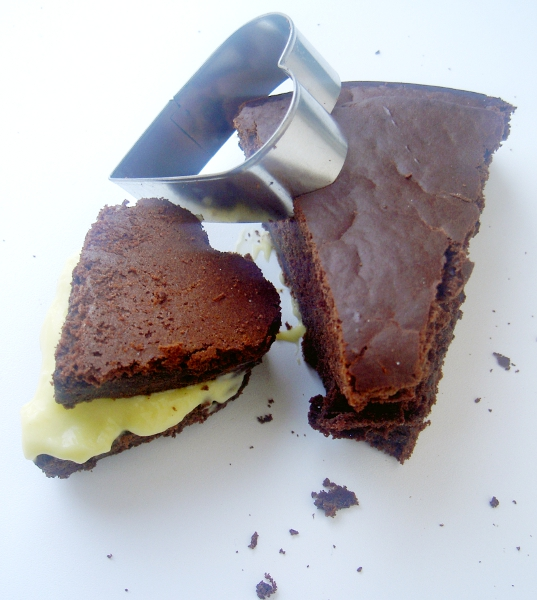 torta al cioccolato e crema