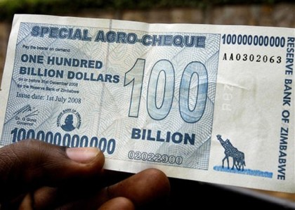 "A ""poderosa"" nota do zimbabue"
