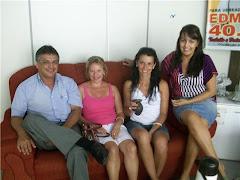Márcia Medeiros e Gleci da Silva Medeiros em visita ao Presidente da Câmara