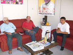 Vereador Edmundo da Rosa em reunião com João Carlos de Souza e Sérgio Frank Melkel
