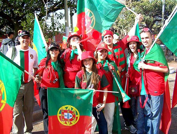 BRASIL X PORTUGAL - CLIMA DE EUFORIA EM DURBAN- CLIC