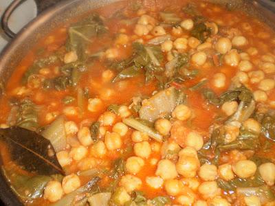 La cocina de bartolo garbanzos con acelgas estilo c diz - Garbanzos olla express ...