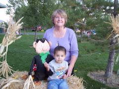 Chaiz & Grandma at Scarecrow Festival