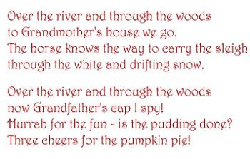 thanksgiving poem word art