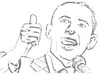 president obama coloring sheet