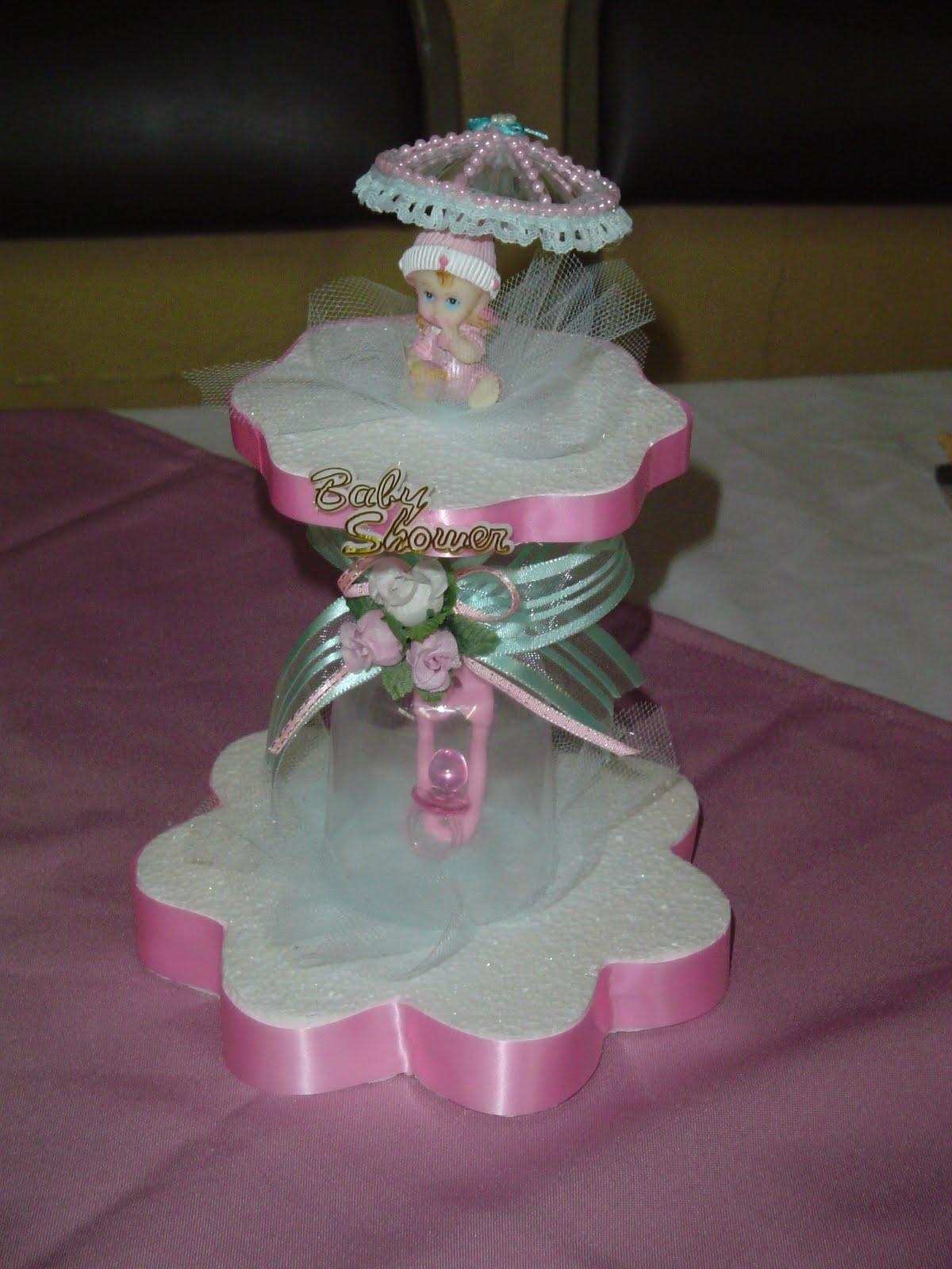 centro de mesa para baby shower niño y niña