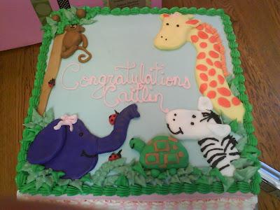 sue 39 s sweet creations baby shower cake animal theme