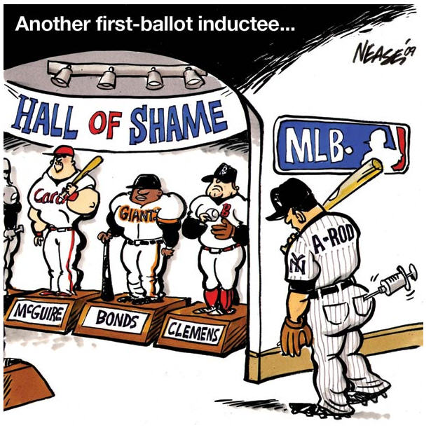 steroids in the hall of fame in the article steroids baseball and the hall of fame by robert schlesinger he brings up the question about what will happen when all the steroid era