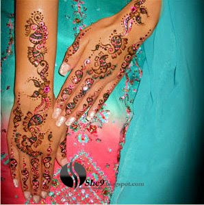 Indian Mehndi Design for Full Arm