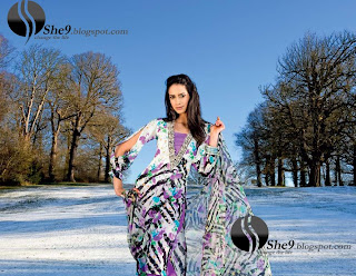 Gul+Ahmed+Stylish+Design+www.She9.blogspot.com+%286%29 More v neck and round neck shalwar kameez styles from Gul Ahmad