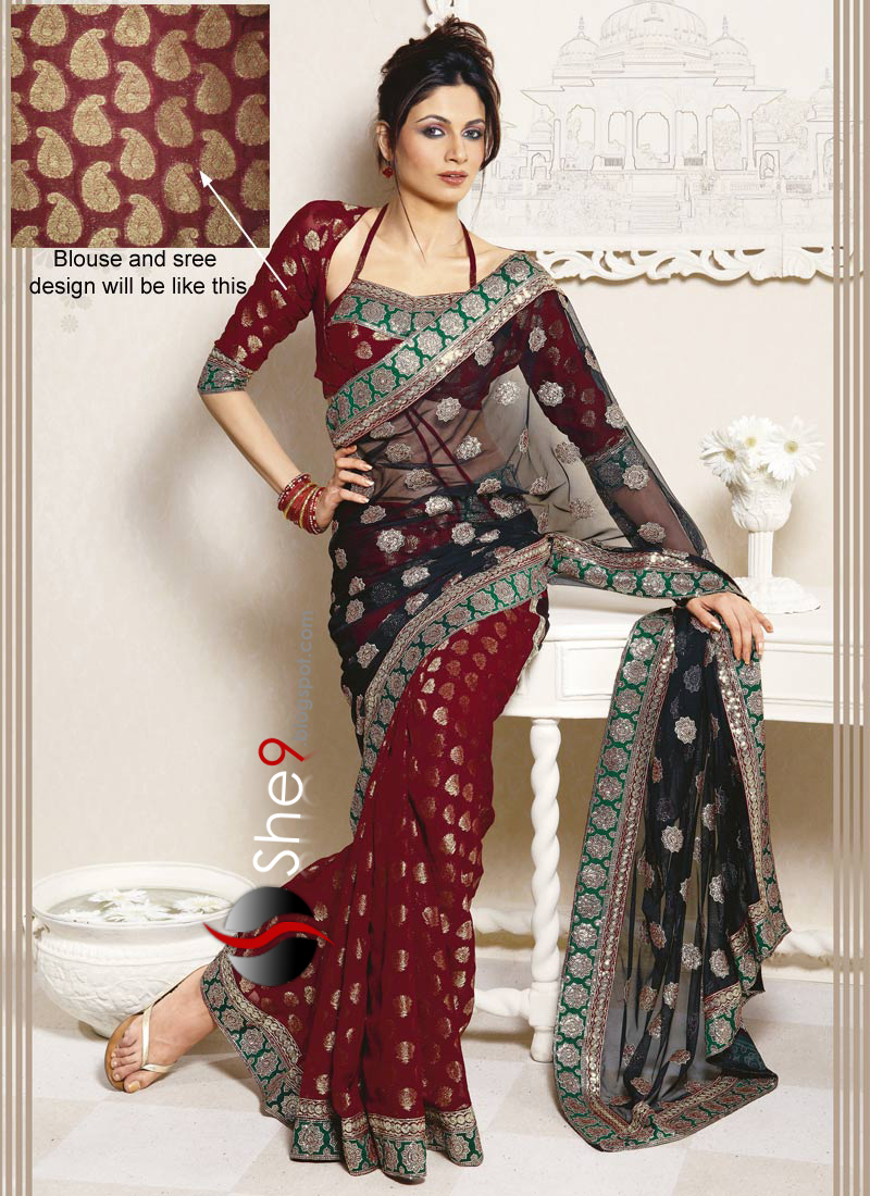 how to wear saree when short