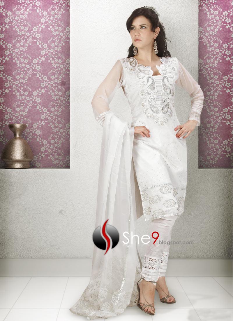 IndianSalwarKameezwwwShe9blogspotcom28529 - White Dresses