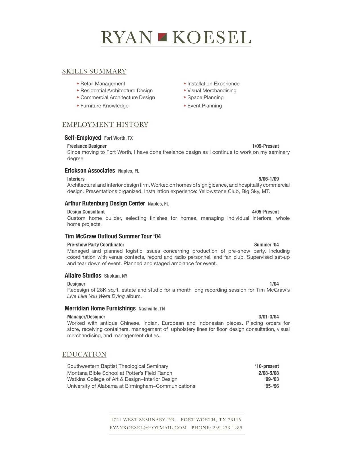 Ministry Resume submited images