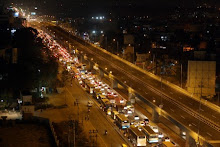 Traffic on Hosur road near electronic city Bangalore