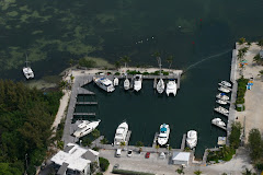 Banana Bay from a few feet up.  YA is in the lower right corner in front of the dock house.