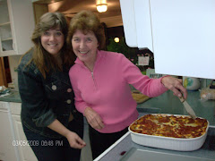 Pam and mom Marilyn and the FABULOUS veggie lasaagna