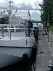 Chad the lock guy, took our pic in the lock.  go Parks Canada--the good guys!