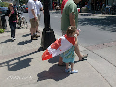 Everyone was dressed up for Canada Day