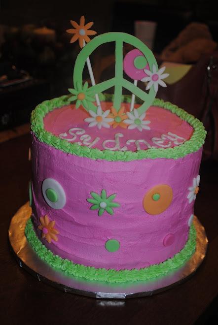 Peace Sign Cake