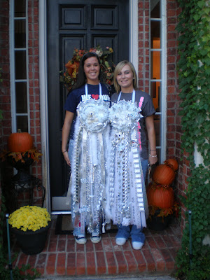 Mums, Homecoming mums, Allen High School football, White and Silver Mums