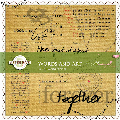 Words and Art by Martencja Designs available at After Five Designs