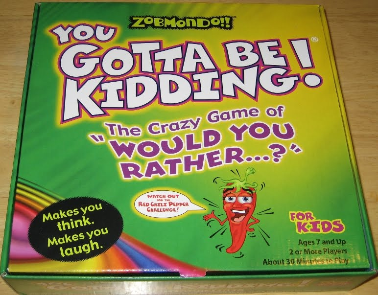 Other Family Diversions Game Zobmondo You Gotta Be Kidding One