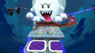 Timeless Mario enemy Boo makes an appearance.