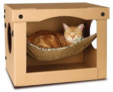 Hamaca para gatos una cama facil sima de hacer - Camas para gatos ...