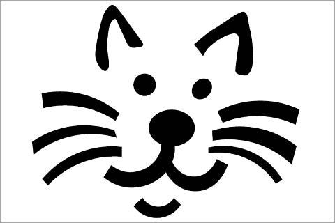 Plantillas de gatos para tallar calabazas en Halloween