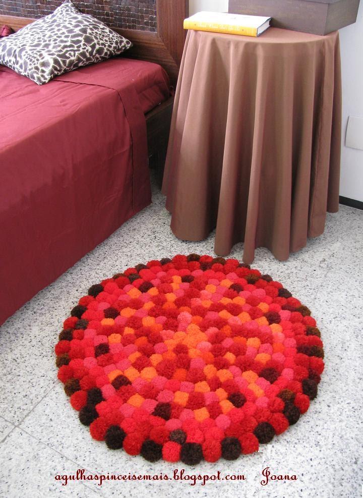 Adornos fieltro como hacer alfombras con pompones - Como hacer alfombras de nudos ...
