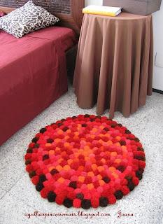 Adornos fieltro como hacer alfombras con pompones - Como hacer una alfombra de lana ...