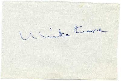 Autograf: Ulrika Knape.