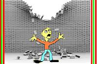 Vältande av mur.