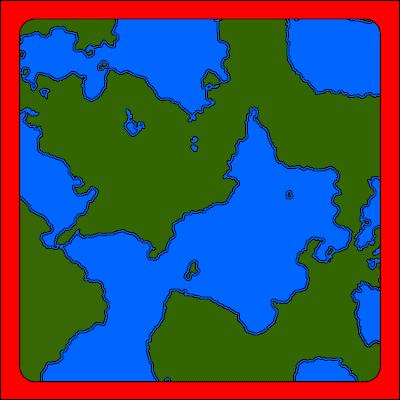 En låtsaskarta helt utan struktur.