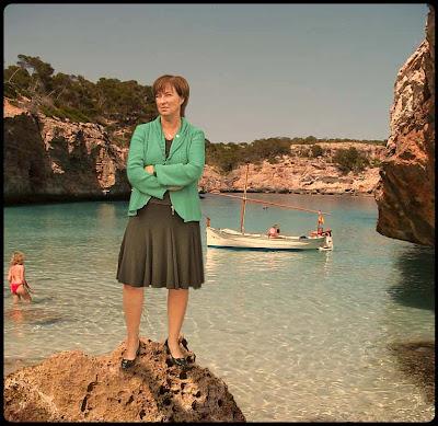 Mona Sahlin på Mallorca.