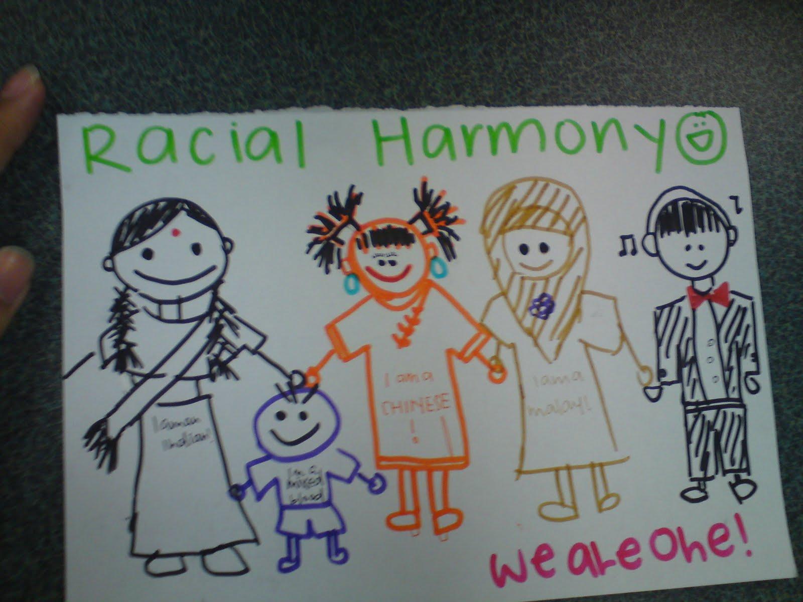 my racial harmony poster