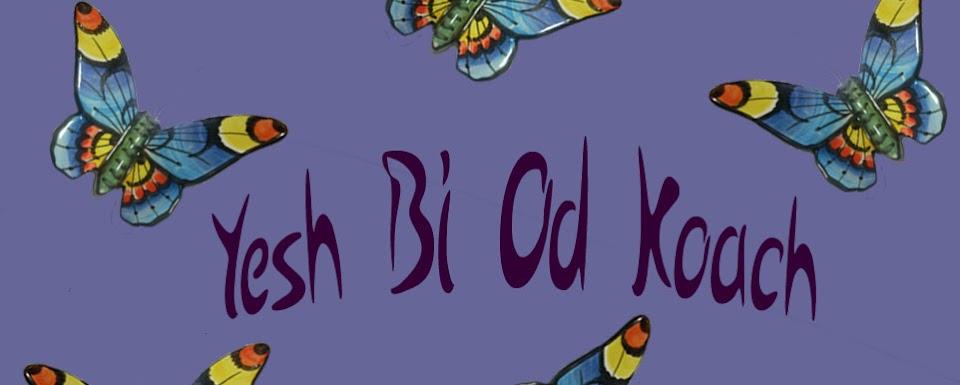 Yesh Bi Od Koach