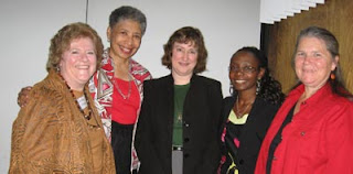 left to right: Christine Krenzel, Julianne Cartwright Traylor, Karen Dutton, Patience Tusingwire, Ainsley Nies