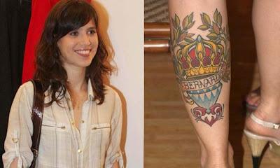 Mel Lisboa Tatuagem na Perna