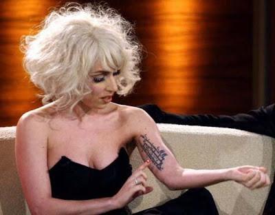 Publicado em 28/01/2011 por Tatuagens de Famosos. Lady Gaga Tattoo