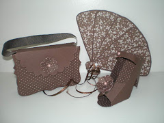 Purse, Fan & Shoe Set