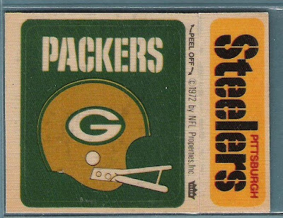 Fleer NFL Football Cloth Patch Stickers - Green Bay Packers