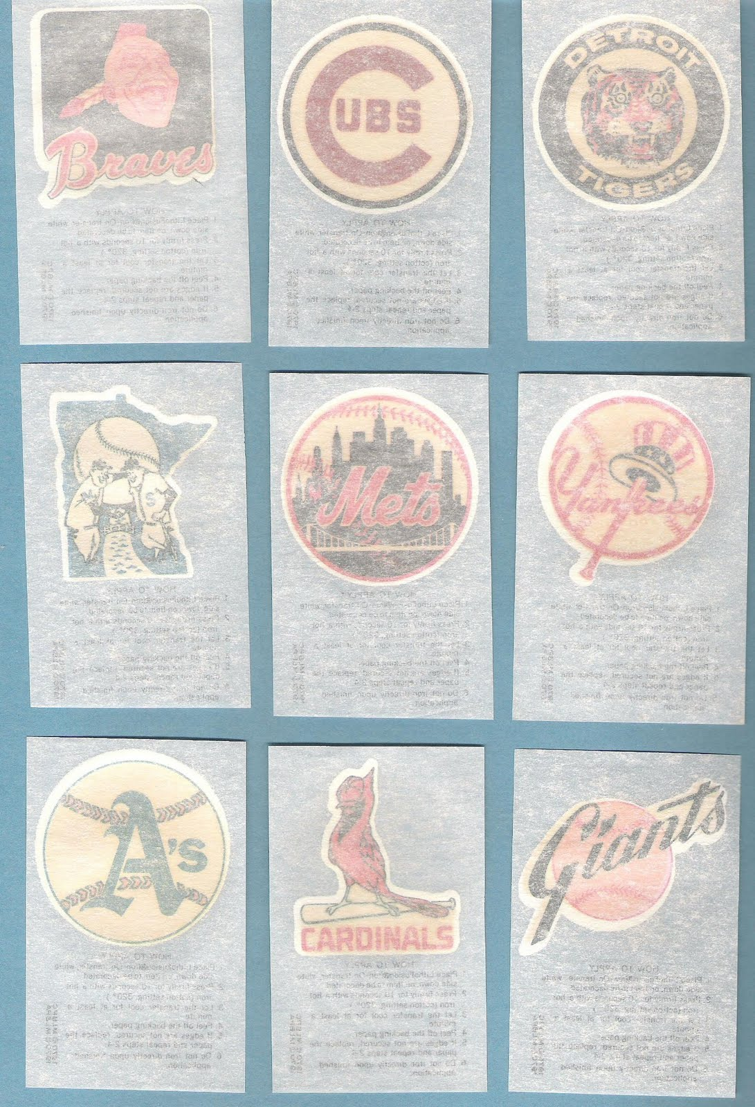 the fleer sticker project 1970 kellogg u0027s baseball iron ons