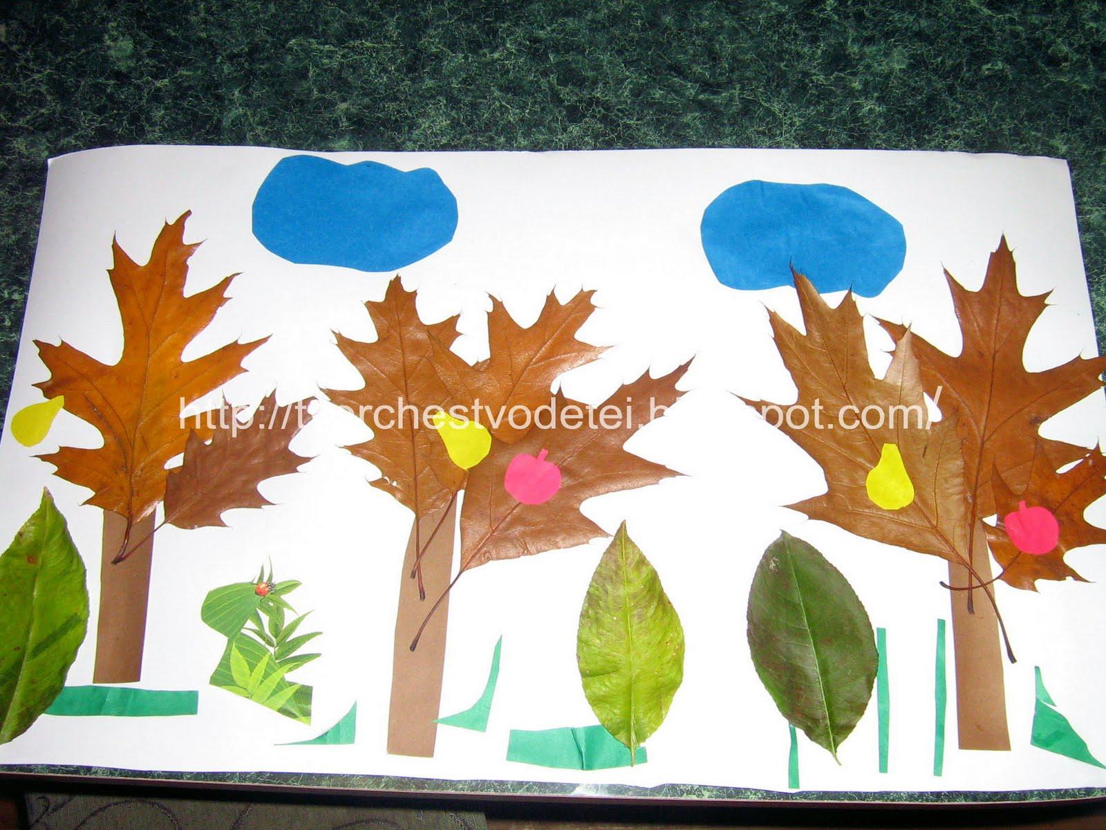 Аппликация из цветной бумаги на тему Осень: пошаговые 58