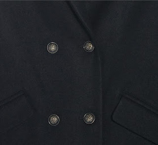 manteau officier en laine Kookaï